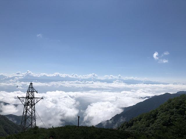 千畳敷から見る雲