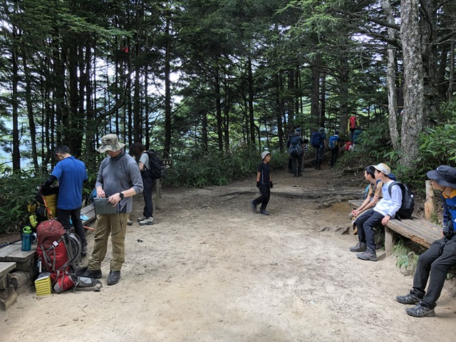 燕岳登山第二ベンチ