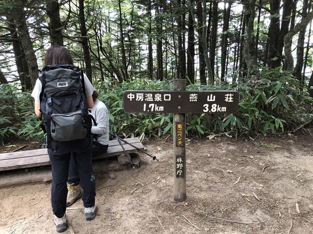 燕山荘まで3.8km