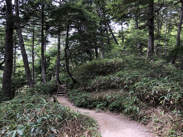 燕岳登山第三ベンチへの道のり2