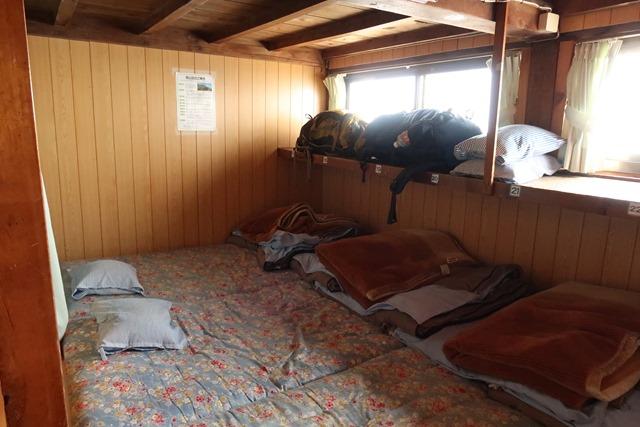 燕山荘就寝場所