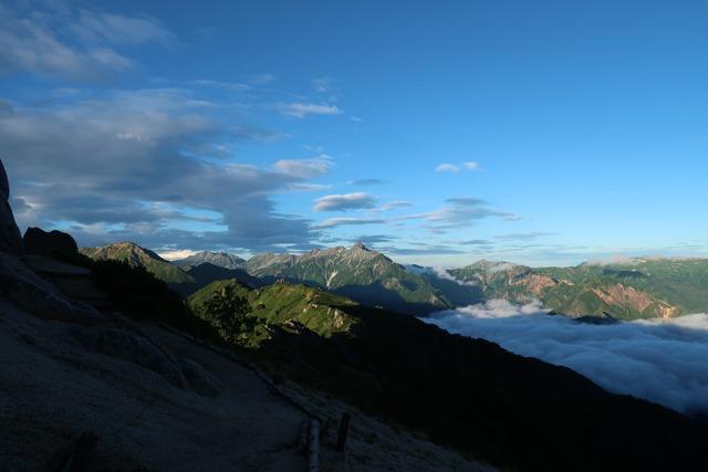 燕山荘からの槍ヶ岳